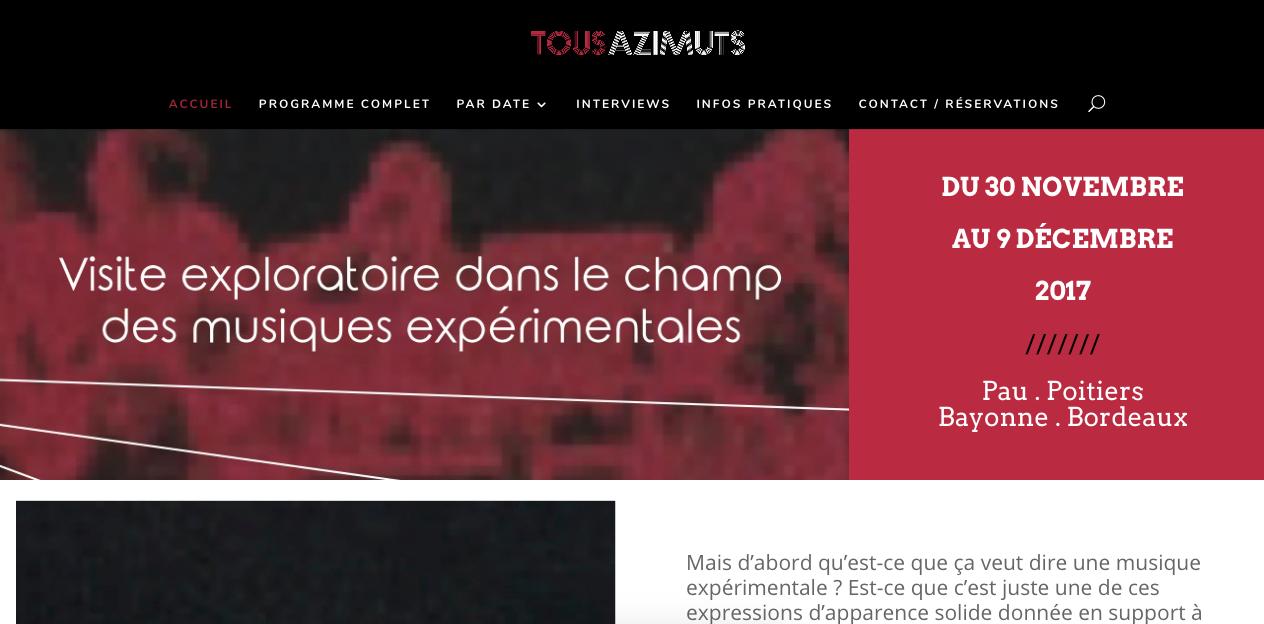 Festival Tous Azimuts – Édition 2017
