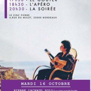 Le mardi au Zinc Pierre avec PIERRE LACHAUD / FRANCOIS CORNELOUP / MATHIAS PONTEVIA & JESUS AURED